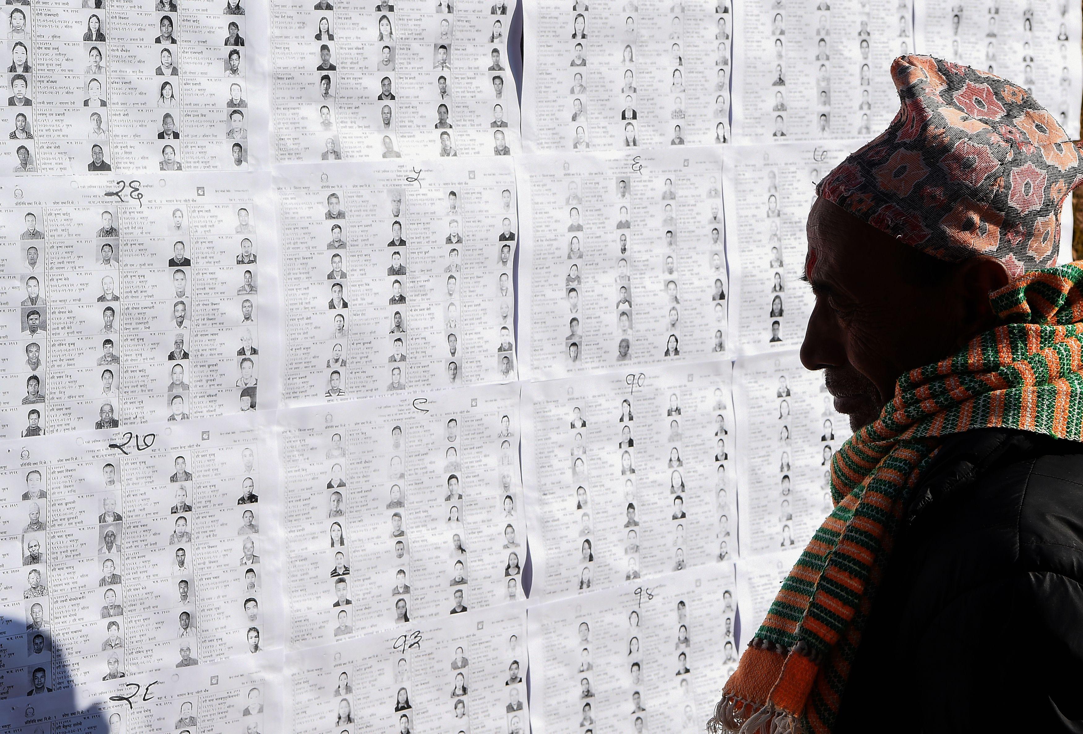 كشوف الناخبين فى نيبال