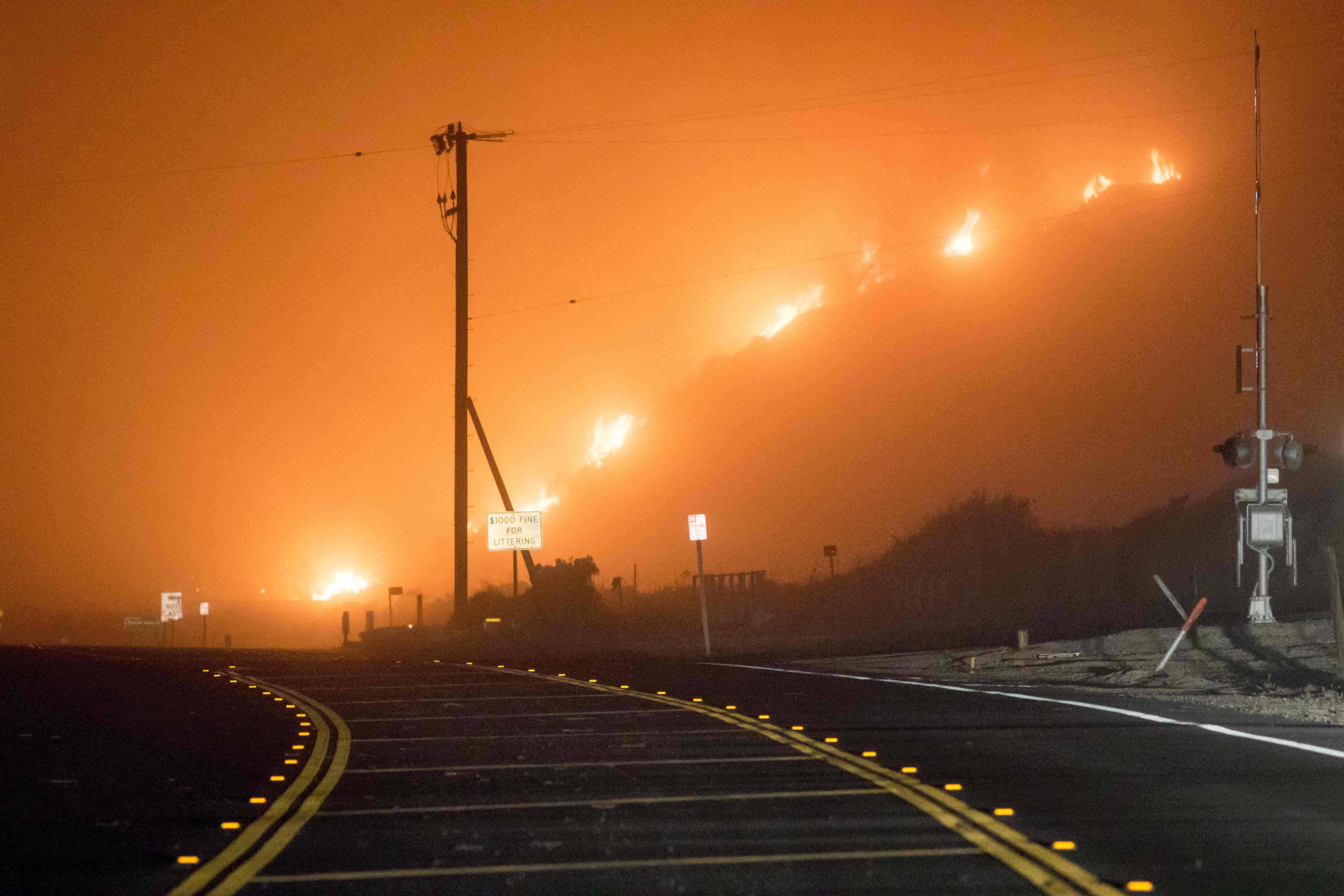 حرائق كاليفورنيا الأمريكية