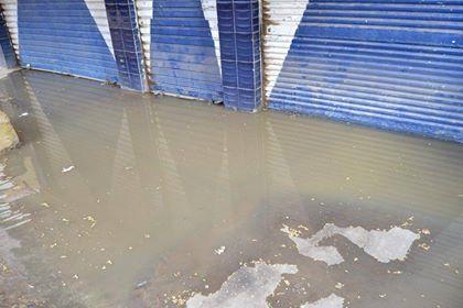أصحاب المحال يمتنعنون عن فتحها لغرقها بالمياه