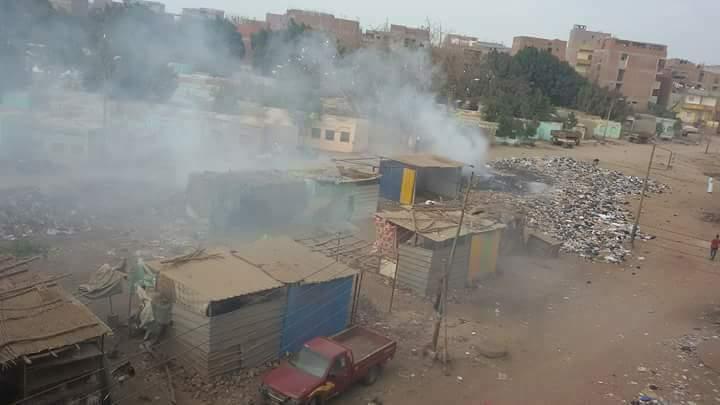 حرق القمامة بجوار مقابر قرية سندبسط