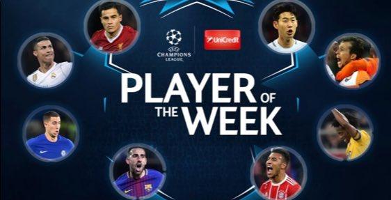 المرشحين على الفوز بجائزة لاعب الجولة الأخيرة بدورى أبطال أوروبا