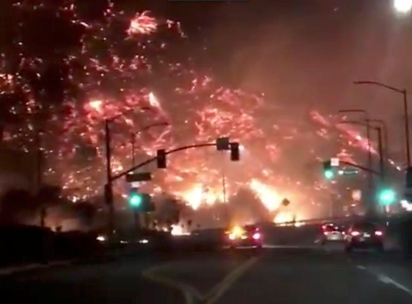 جانب من حرائق كاليفورنيا