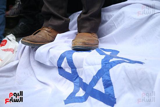 صور الصحفيون يحرقون علم إسرائيل خلال وقفة احتجاجية (23)
