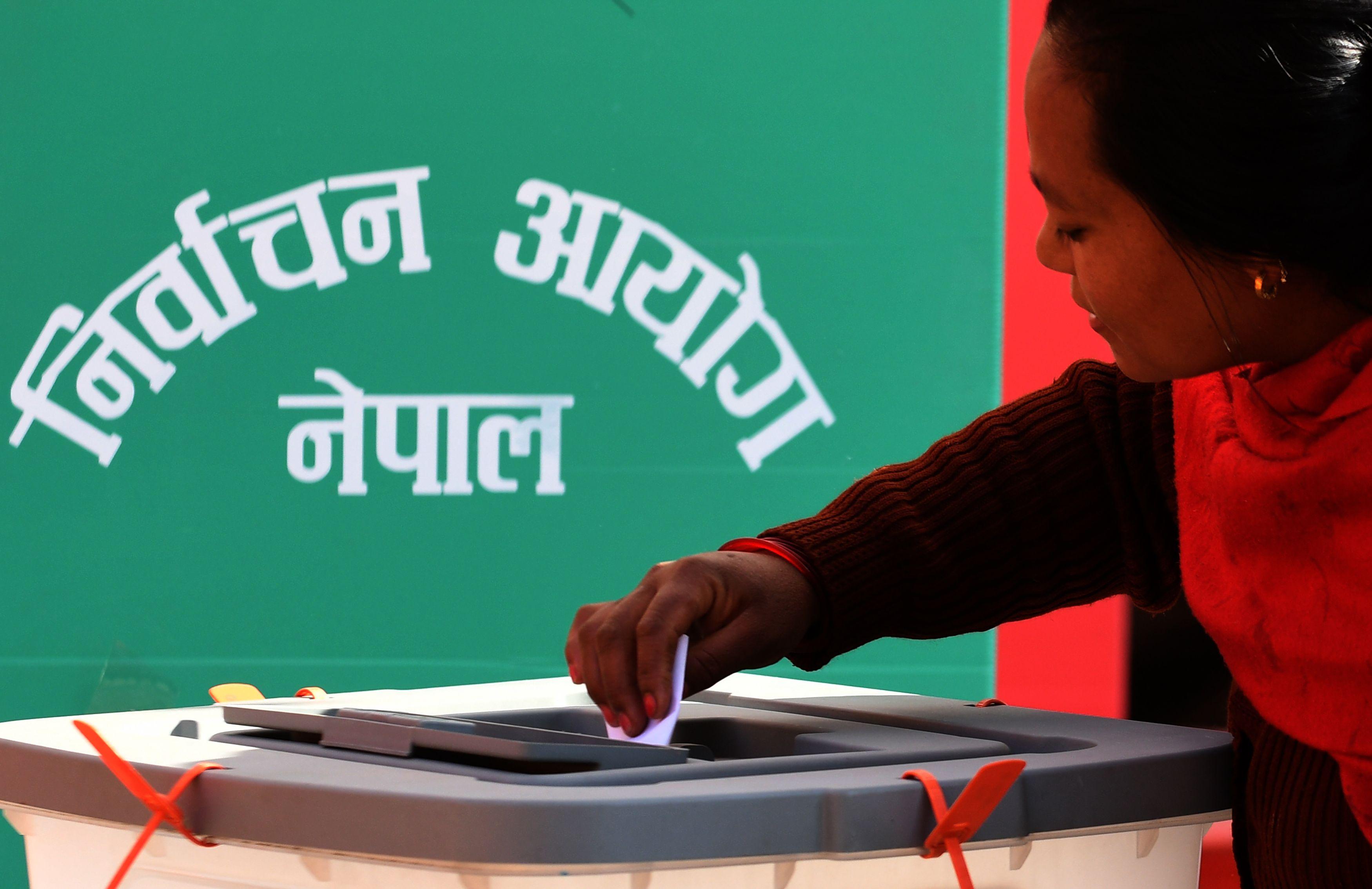 التصويت فى نيبال