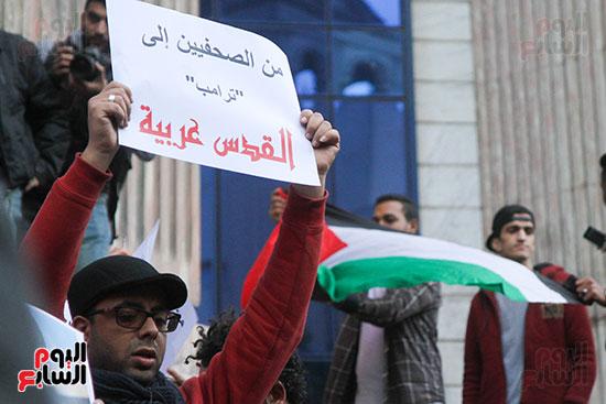 صور الصحفيين امام النقابة  خلال الوقفة الاحتجاجية (4)