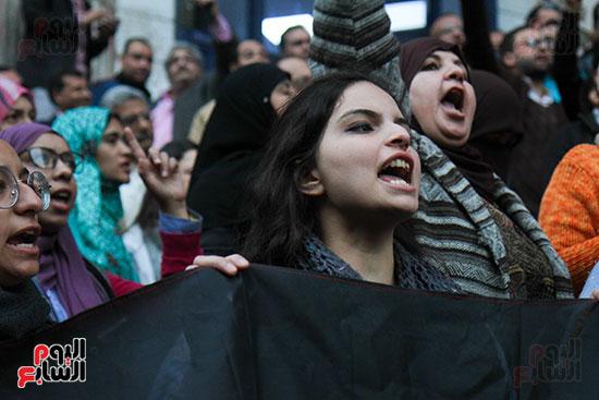 صور الصحفيين امام النقابة  خلال الوقفة الاحتجاجية (10)