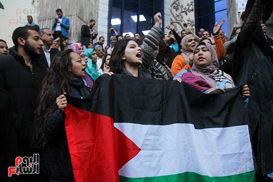 صور الصحفيين امام النقابة  خلال الوقفة الاحتجاجية (9)