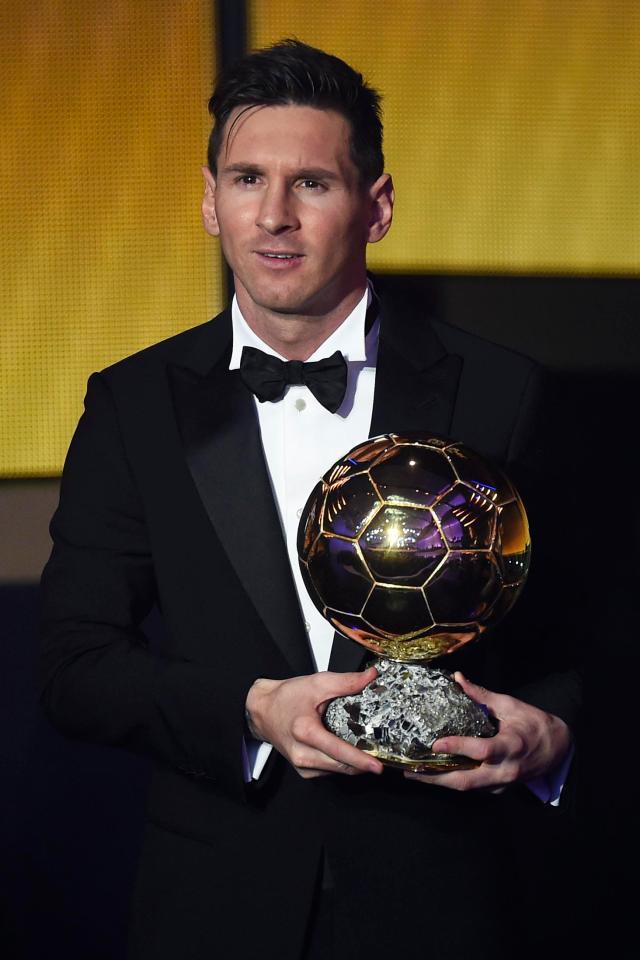 ميسي أكثر لاعب يفوز بالجائزة 5 مرات