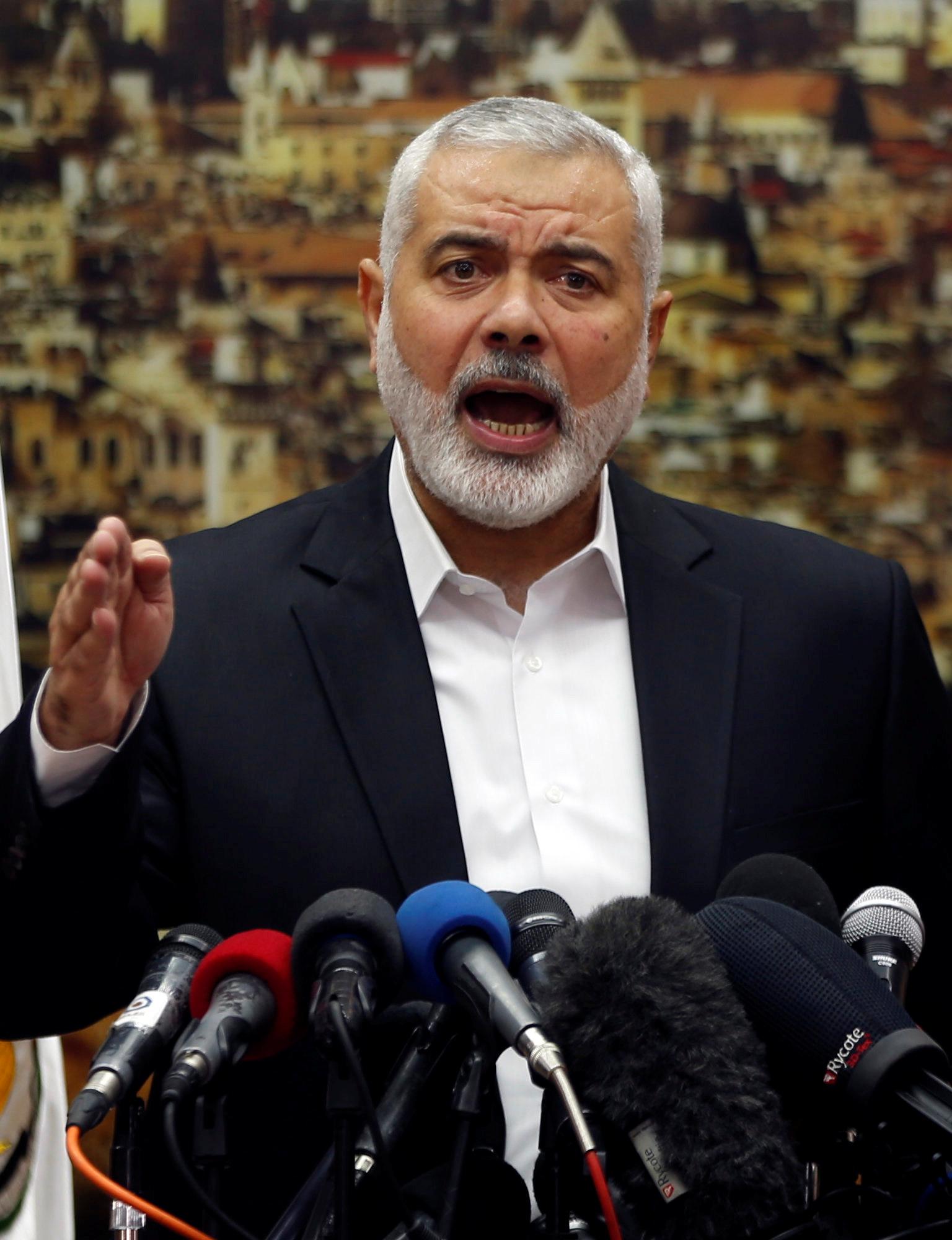 إسماعيل هنية رئيس المكتب السياسيى لحركة حماس