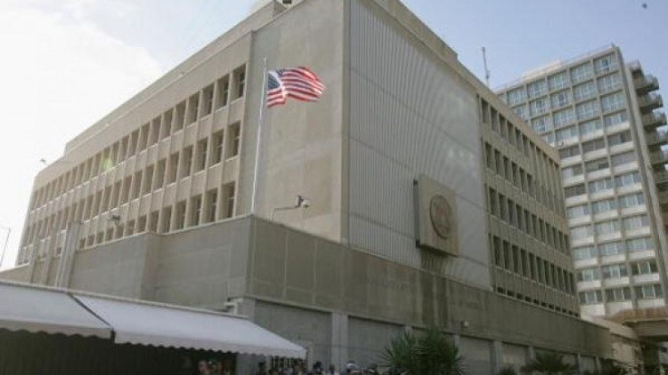 السفارة الأمريكية فى تل أبيب