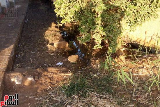 انحسار جزئى لمياه الصرف لانخفاض منسوب الشبكة