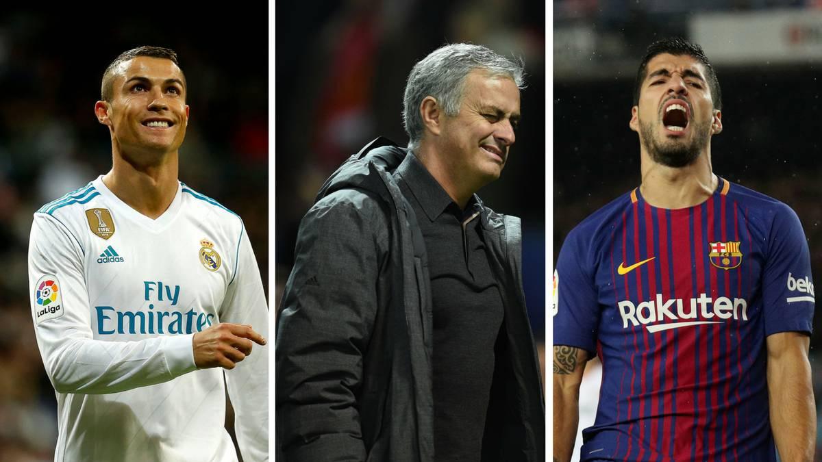 رونالدو ومورينيو وسواريز فى قائمة الأكثر كرها فى كرة القدم