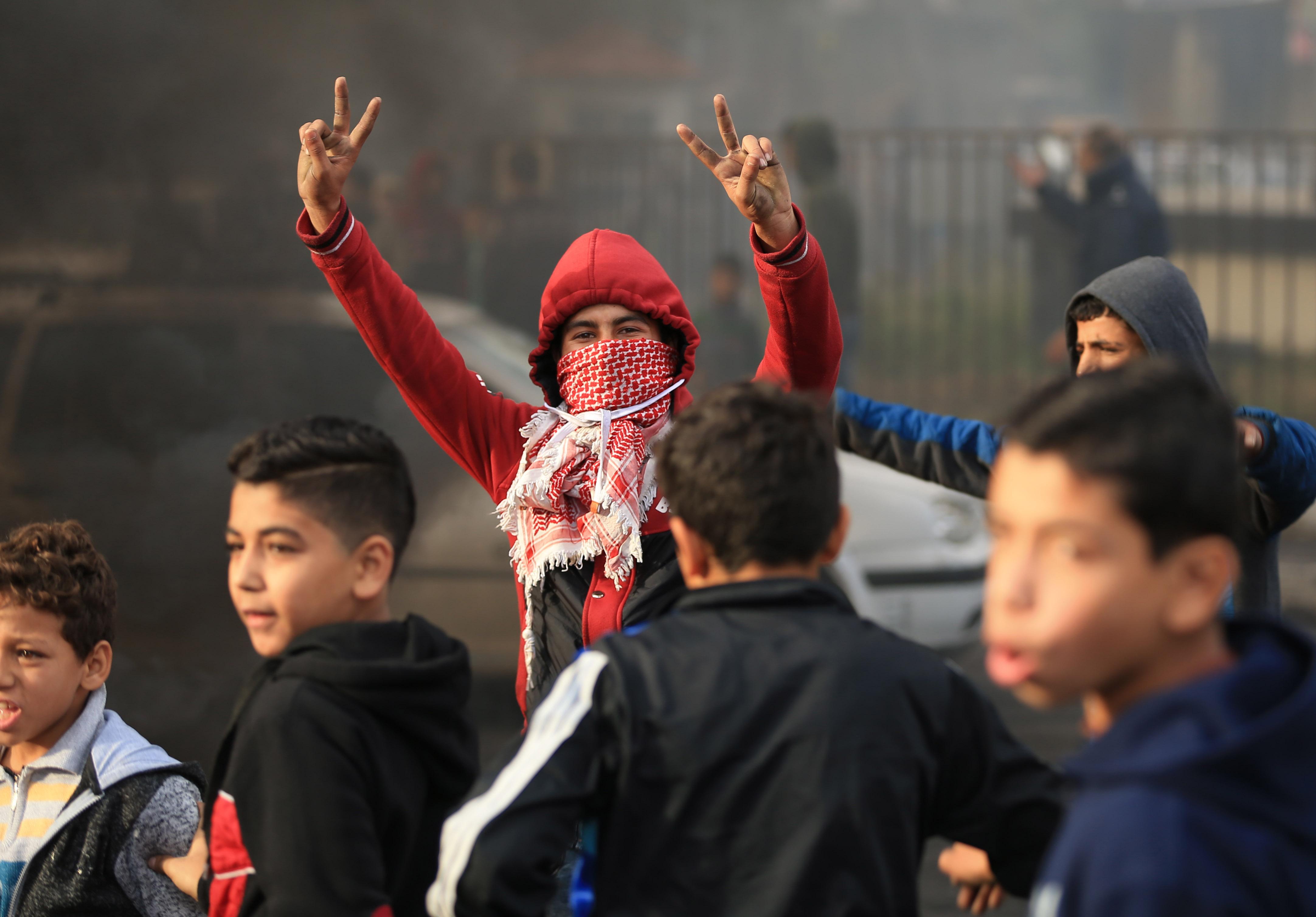 مظاهرات فى غزة ضد قرار ترامب