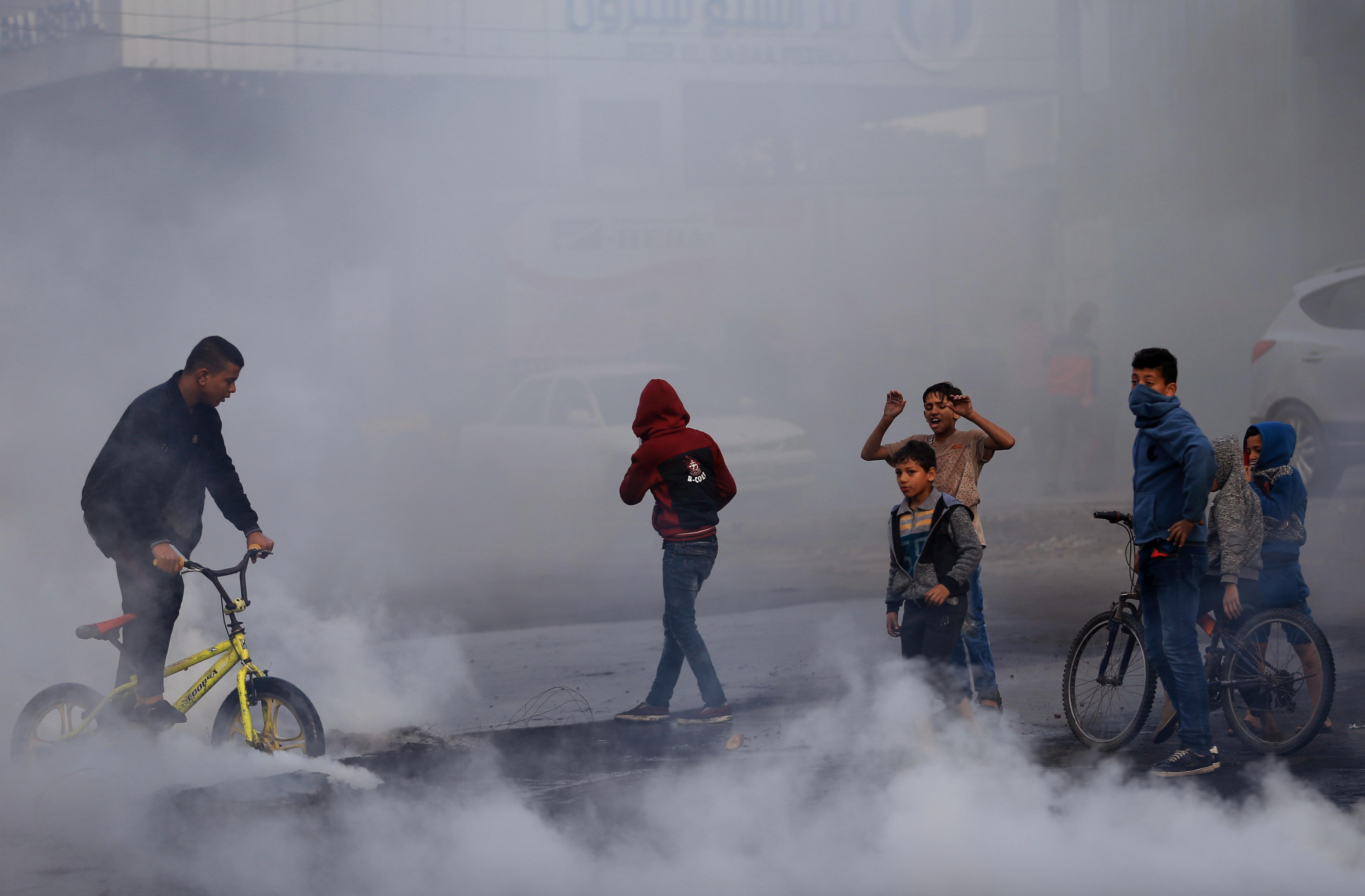احتجاجات في غزة بسبب قرار ترامب