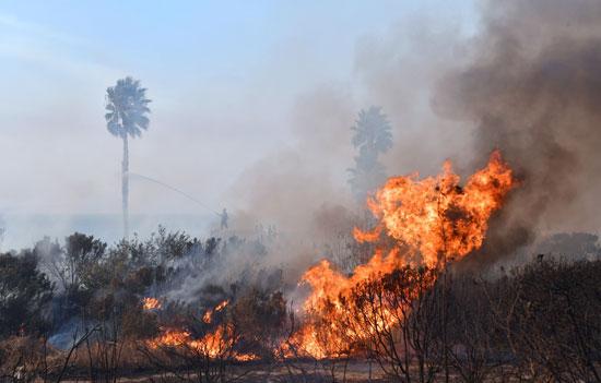 اشتعال-النيران-فى-شوارع-حرائق-كاليفورنيا
