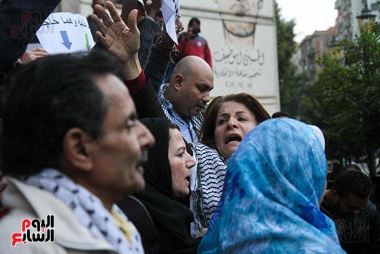 وقفة تضامنية مع فلسطين أمام نقابة الصحفيين فى مصر