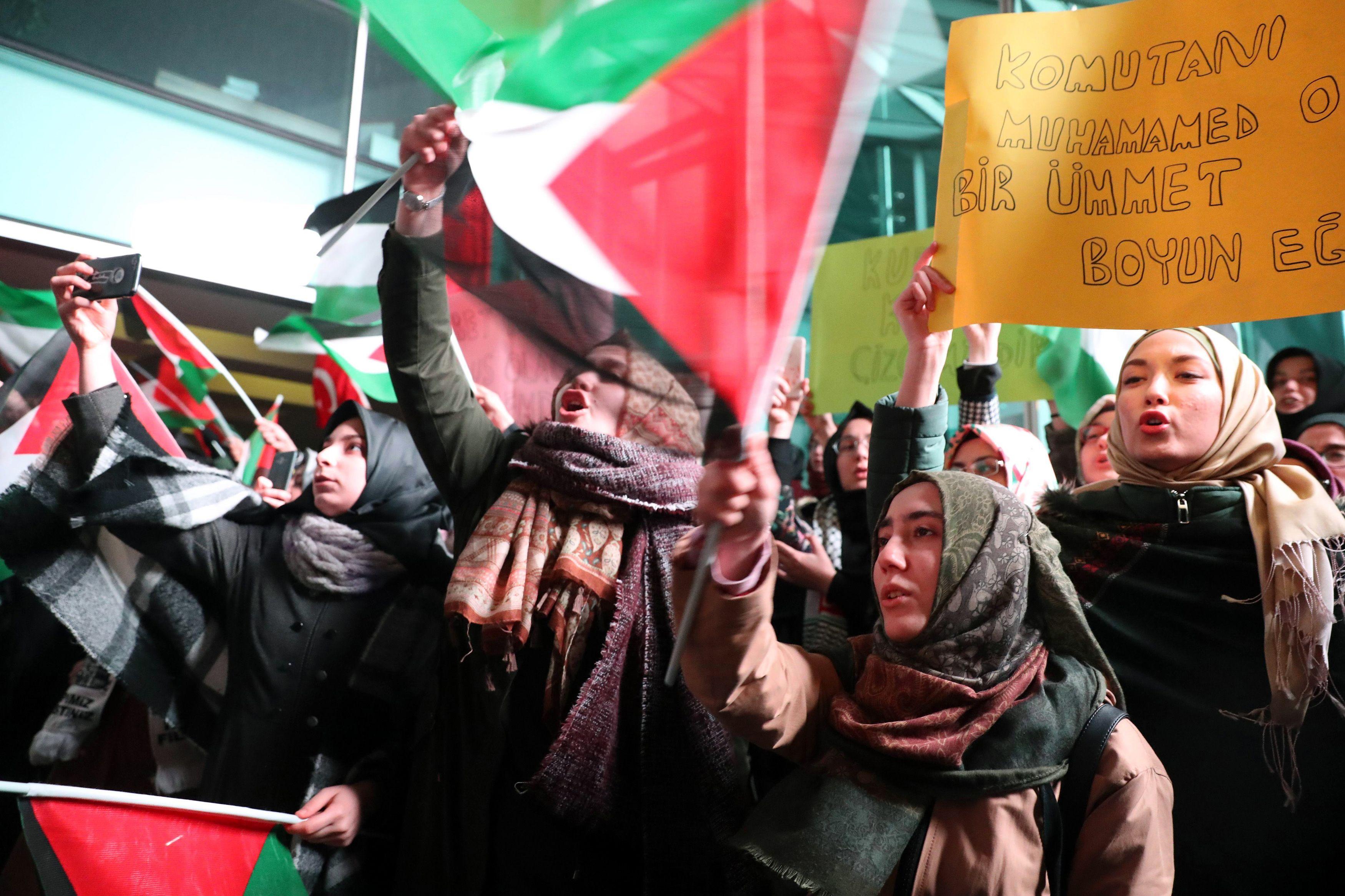 جانب من مظاهرات تركيا