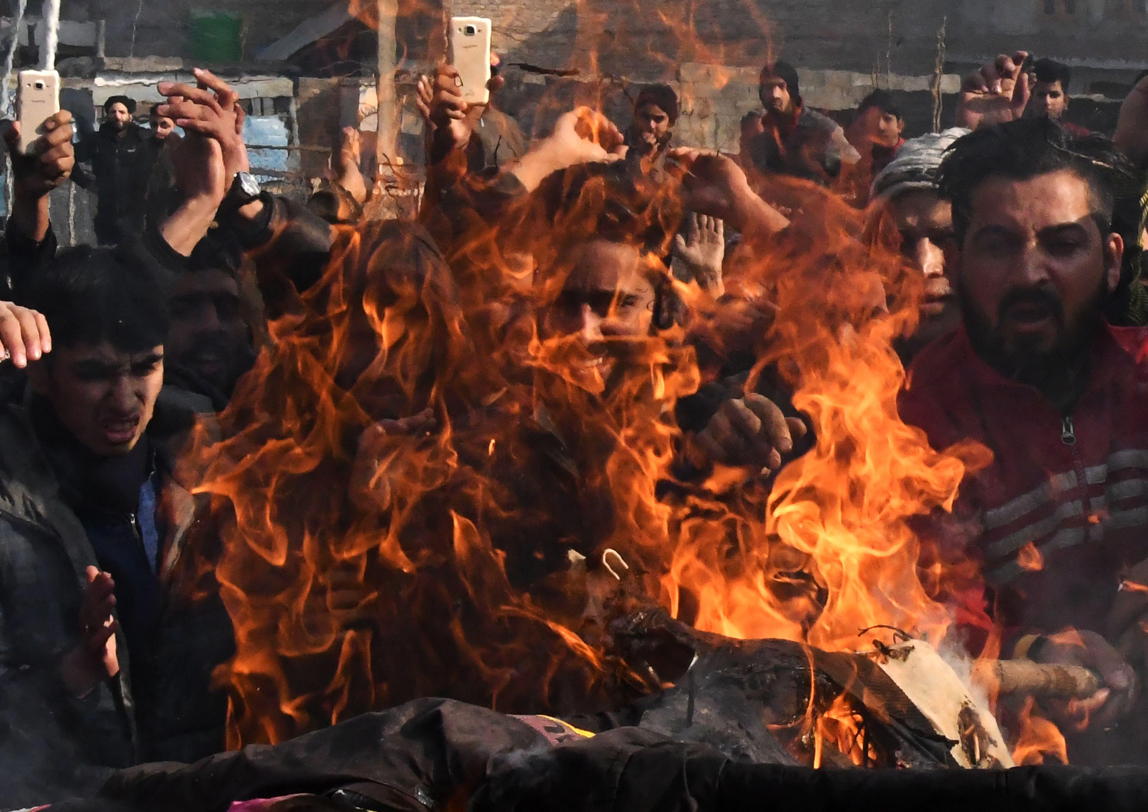 جانب من احتجاجات الهند