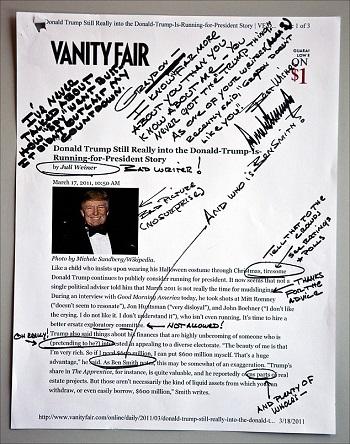 خط الرئيس الأمريكى ترامب