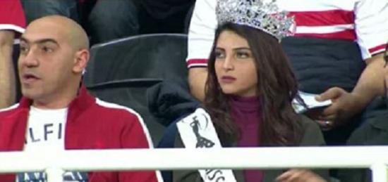 أيسل خالد اثناء المباراة