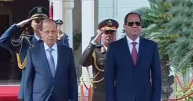 الرئيس السيسى ونظيره اللبنانى ميشال عون