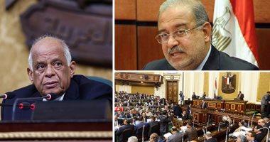 شريف إسماعيل رئيس الوزراء والدكتور على عبد العال رئيس مجلس النواب