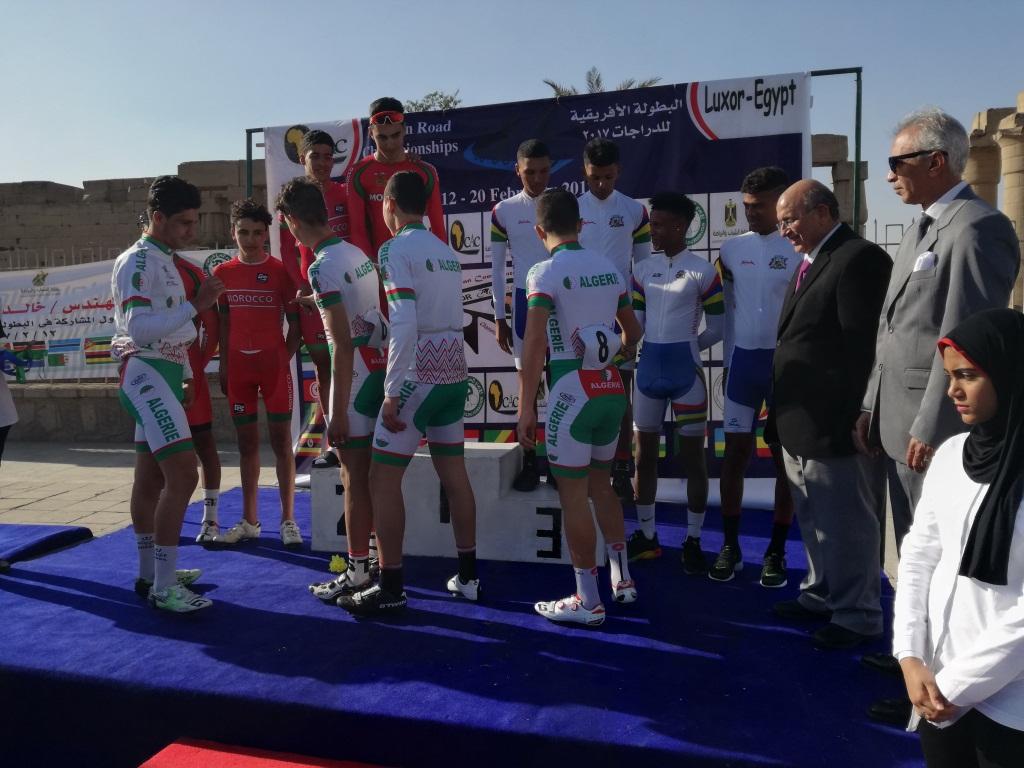 تكريم الفائزين في البطولة الإفريقية للدراجات الهوائية