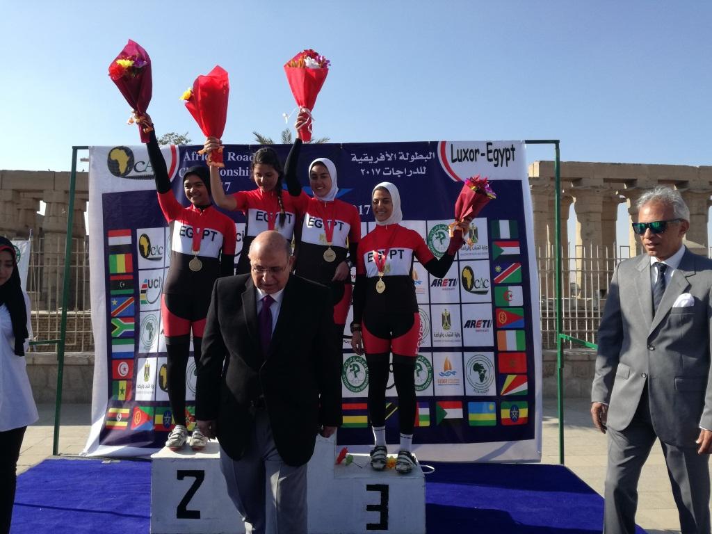 منتخب مصر للناشئين يفوز بسباق السيدات للدراجات الهوائية