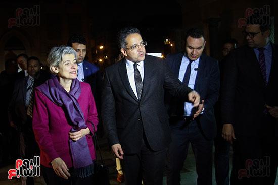 وزير الآثار يستقبل إيرينا بوكوفا فى متحف الفن الإسلامى (2)