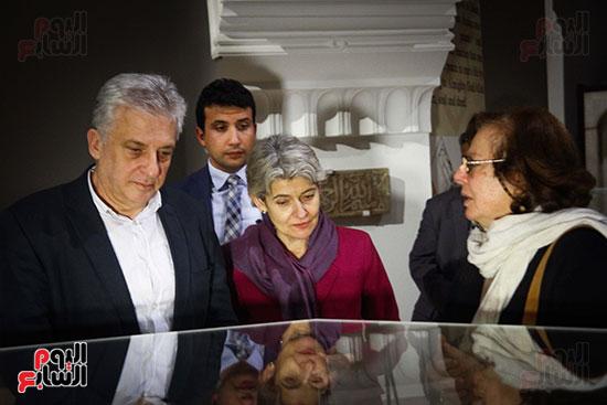 وزير الآثار يستقبل إيرينا بوكوفا فى متحف الفن الإسلامى (7)