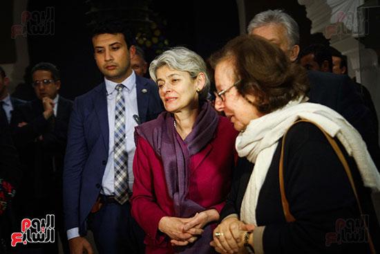 وزير الآثار يستقبل إيرينا بوكوفا فى متحف الفن الإسلامى (18)