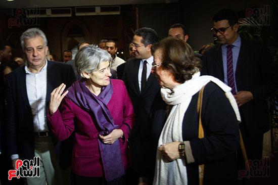 وزير الآثار يستقبل إيرينا بوكوفا فى متحف الفن الإسلامى (3)