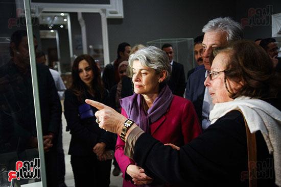 وزير الآثار يستقبل إيرينا بوكوفا فى متحف الفن الإسلامى (13)