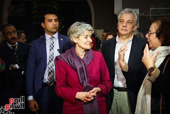 وزير الآثار يستقبل إيرينا بوكوفا فى متحف الفن الإسلامى (15)