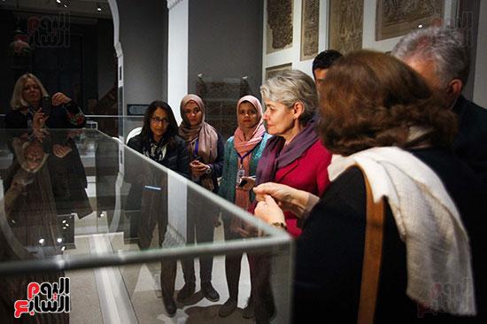 وزير الآثار يستقبل إيرينا بوكوفا فى متحف الفن الإسلامى (21)