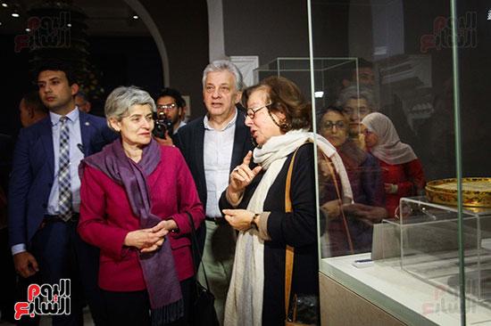 وزير الآثار يستقبل إيرينا بوكوفا فى متحف الفن الإسلامى (17)