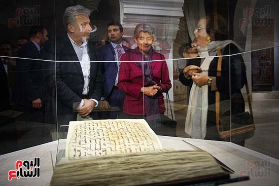 وزير الآثار يستقبل إيرينا بوكوفا فى متحف الفن الإسلامى (10)