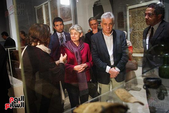 وزير الآثار يستقبل إيرينا بوكوفا فى متحف الفن الإسلامى (25)