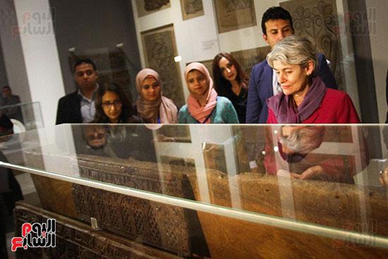 وزير الآثار يستقبل إيرينا بوكوفا فى متحف الفن الإسلامى (22)