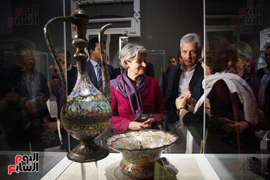 وزير الآثار يستقبل إيرينا بوكوفا فى متحف الفن الإسلامى (12)