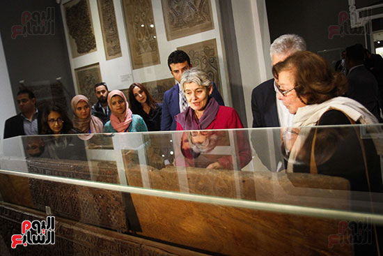 وزير الآثار يستقبل إيرينا بوكوفا فى متحف الفن الإسلامى (23)