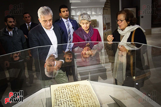وزير الآثار يستقبل إيرينا بوكوفا فى متحف الفن الإسلامى (9)