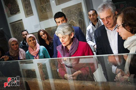 وزير الآثار يستقبل إيرينا بوكوفا فى متحف الفن الإسلامى (24)