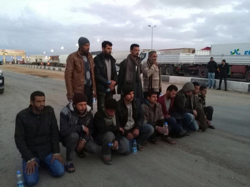 المصريين بعد تحريرهم فى ليبيا