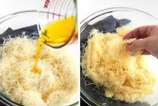 بالصور طريقة تحضير احلى صينية كنافة بالمكسرات