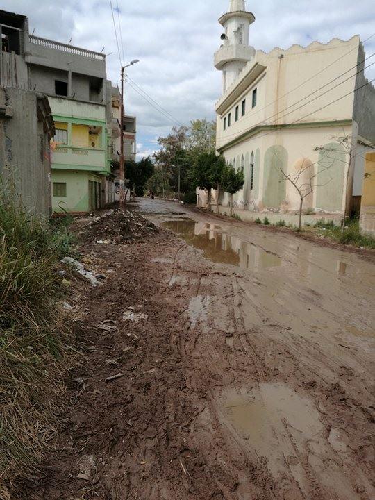 صورة توضح سوء حالة طريق فارسكور قرية المنشاوى