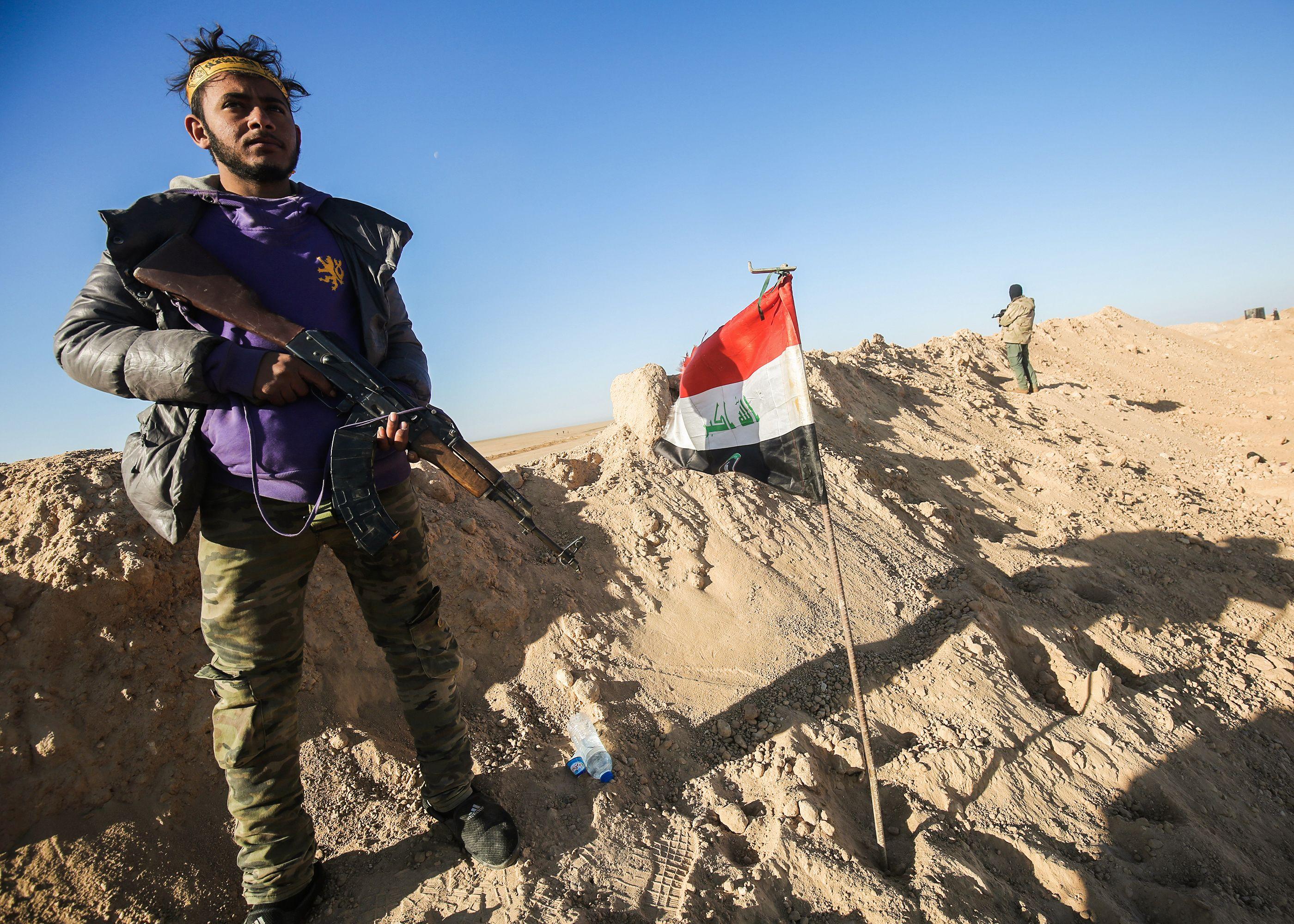 انتشار القوات العراقية على غرب الموصل