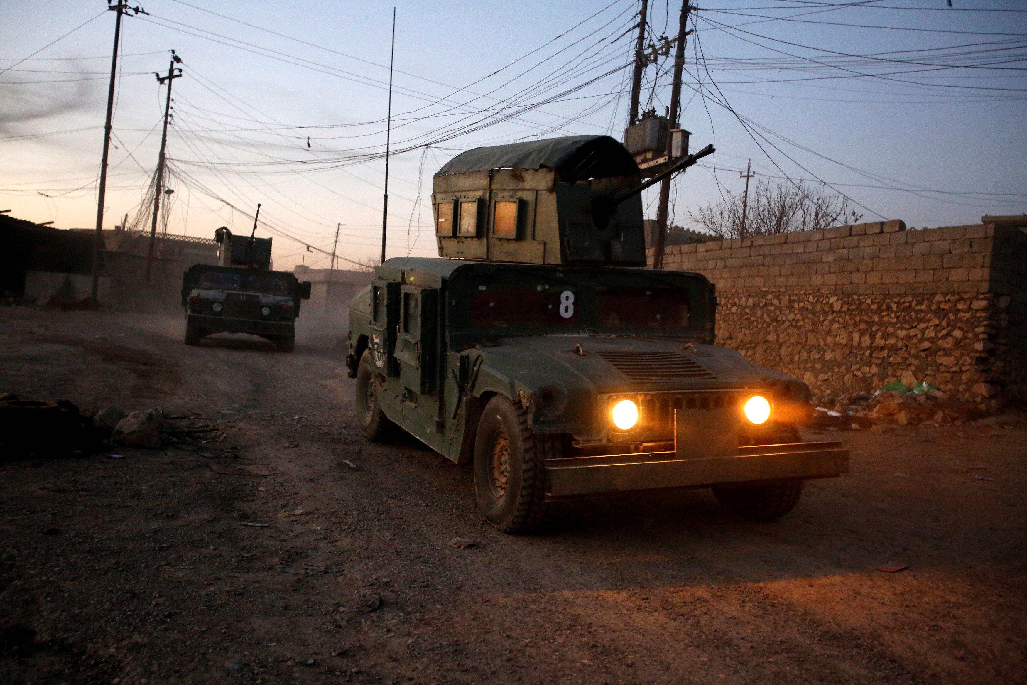 القوات العراقية المشاركة فى المعركة