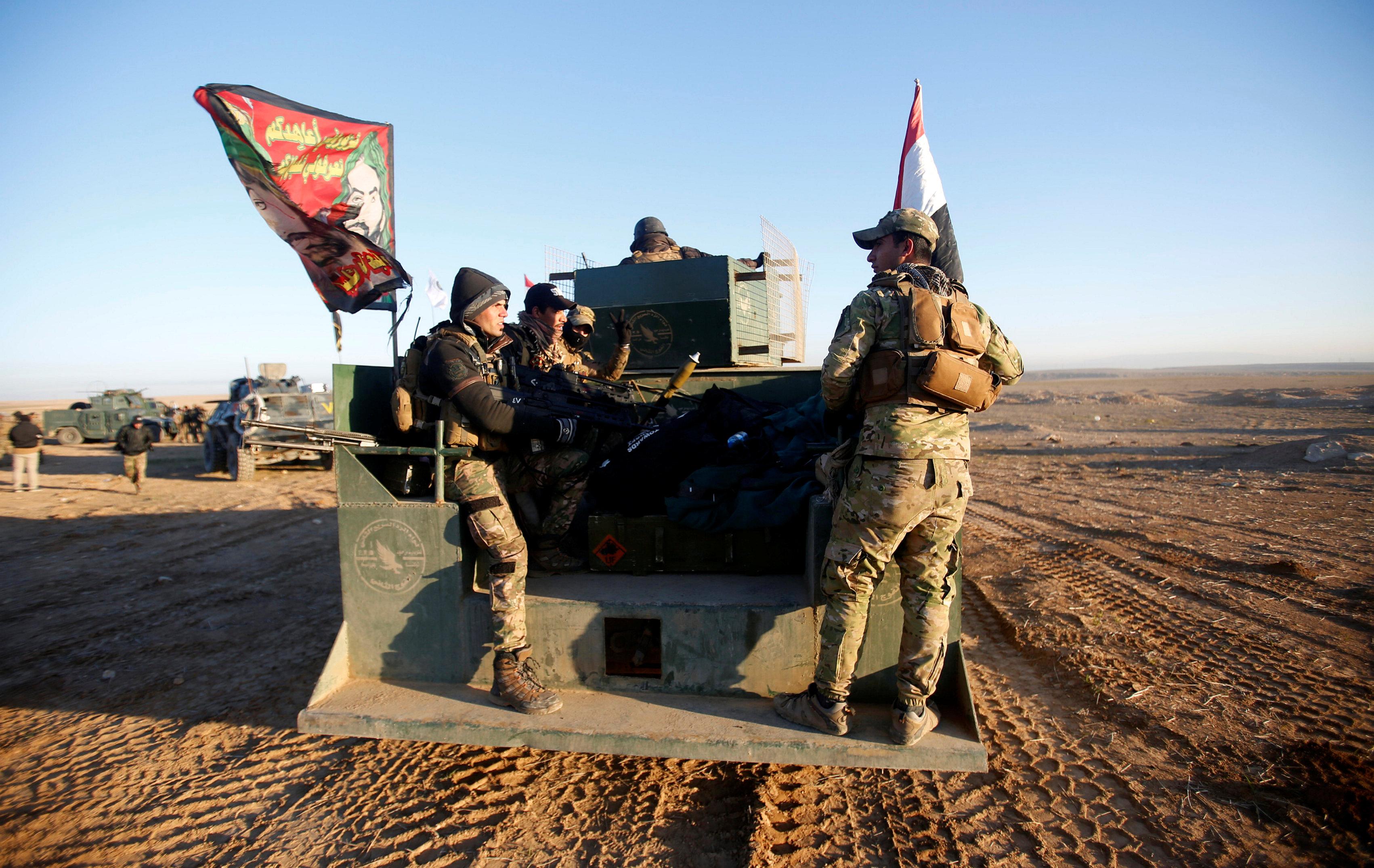 استعداد القوات العراقية للبدء العمليات العسكرية