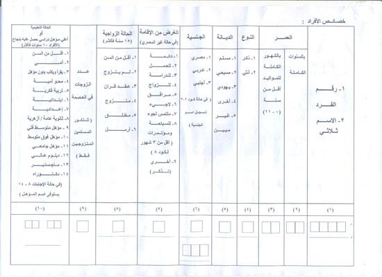استمارة التعداد (3)